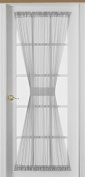 Sheer Voile 180cm French Door Curtain Panel, White