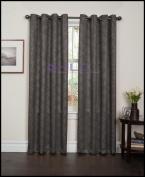HLC.ME Redmont Lattice Thermal Blackout Grommet Window Curtain Panel - Pair - 210cm inch Long