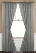 Awad Home Fashion 2 Panels Solid Grey (Grey) Sheer Voile Window Curtain Treatment Drapes 140cm X 210cm