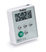 Polder TMR-2125 Buzz and Beep Digital Timer, White