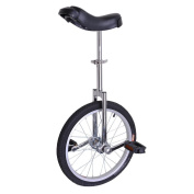AW Silver 46cm Inch Wheel Unicycle Leakproof Butyl Tyre Wheel Cycling Outdoor Sports Fitness Exercise Health