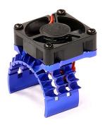 Integy T8635BLUE T2 Motor Heatsink w/ Cooling Fan for Traxxas 1/10 Stampede 4X4 & Slash 4X4