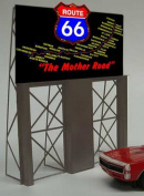 5061 Model Route 66 Neon Lighted Roadside Billboard by Miller Signs