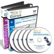 Adobe Photoshop CS5 and Adobe InDesign CS5 Tutorial Training on 5 DVDs, 42 Hours in 528 Video Lessons, Computer Software Video Tutorials