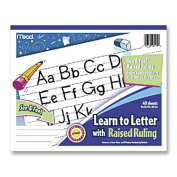 Mead See and Feel Learn to Letter Raised Ruling Grades PK-1, 25cm x 20cm , 40 Count