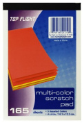 Top Flight Scratch Pads, 10cm x 15cm , Multi-Coloured Paper, 165 Sheets per Pad