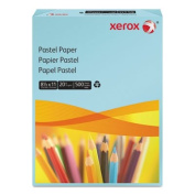 Xerox Multipurpose Pastel Coloured Paper, 9.1kg, Letter, Blue, 500 Sheets/Ream