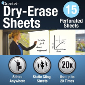 Quartet Dry Erase Sheets, Anywhere, 15 Sheet Roll