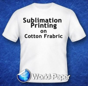 Sublimation Printing for Light Cotton Fabric (Yellow Line Heat Transfer Paper) 22cm x 28cm - 50 Sheets
