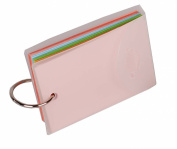 Filexec Products File-A-Flash 5.1cm x 7.6cm Binder Ring Easy Flip Flash Cards, 75 Unruled Coloured Pages, 4 Pack, Clear