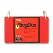 Index Cards Ringdex,w/Removable,Poly Tab,7.6cm x 13cm , (MEA63072) Category
