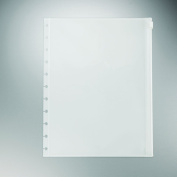 Staples. Arc System Poly Zip Pockets, Clear, Letter-sized 22cm x 28cm , 2 Pack