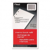 Mead Memo Book Refill, 6 Ring, 9.5cm x 17cm , Pack of 80 Sheets