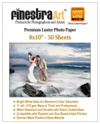 8x10 50 Sheets Premium Lustre Inkjet Photo Paper [Office Product]