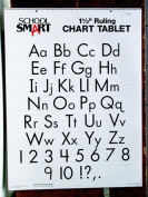 School Smart Skip-A-Line Chart Tablet - 3.8cm Ruled - 60cm x 80cm - 25 Sheet Pad