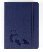 Red Co Journal with Embossed Panda 240 Pages, 13cm x 18cm Lined, Navy Blue