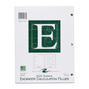 Roaring Spring Engineering Filler, 22cm x 28cm , Green, 500 Sheets