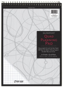 Silverpoint Top Wire Pad, Heavy Back, Quadrille Rule, 22cm x 30cm , 70 Sheets, Protective Cover, Blue/Black