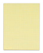 TOPS Quadrille Pad, Gum-Top, 22cm x 28cm , Quad Rule (4 x 4), Canary Paper, 50 Sheets per Pad, 12 Pads per Pack