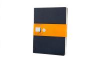 Moleskine Ruled Cahier Journal X-Large, Blue, Set of 3