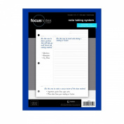 TOPS FocusNotes Note Taking System Filler Paper, 22cm x 28cm , 3-Hole Punched, White, 100 Sheets