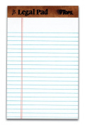 TOPS The Legal Pad Legal Pad, 13cm x 20cm , Perforated, White, Narrow Rule, 50 Sheets per Pad, 5 Pads per Pack