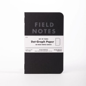 Field Notes Pitch Black Edition, 3-Pack Dot-Grid Memo Notebooks