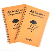 Cosmos ® Pack of 2 pcs Orange Tactical Waterproof All-weather /Shower /Aqua Notes /Pocket Notebook /Notepad (Size