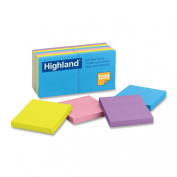 Highland Notes, 7.6cm x 7.6cm , Assorted Bright Colours, 12-Pads/Pack