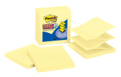 Post-it Super Sticky Pop-up Notes, 10cm x 10cm , Canary Yellow, Lined, 5-Pads/Pack