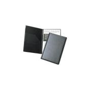 SKILCRAFT 7510-01-454-7388 Vinyl Steno Pad Holder with Foam Padded Cover, 15cm x 23cm Height, Black