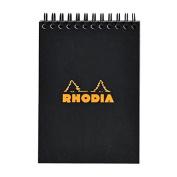 Rhodia Wirebound Pad 6X8.25 Black Grid