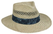 Outdoor Cap LD-905 Sunblock Straw Hat Lindu Asst Nautical Print Bands
