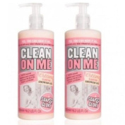 (2 PACK) Soap & Glory Clean On Me Creamy Clarifying Shower Gel x 500ml