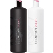 Sebastian Volupt Shampoo 1000ml & Conditioner 1000ml with Pump Dispensers