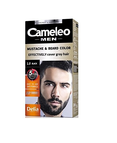 Moustache and Beard Black Colour Cream - Effective cover grey hair ...