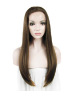 IMSTYLE®New Arrival Futura Brown Straight Heat Resistant Synthetic Lace Front Wig Synthetic Hair