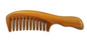 Meta-C Natural Green Sandal Wood Handmade Wave Comb