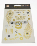 Latest Summer Fashion Temporary Black Gold Silver Metallic Flash Body Tattoos Bracelets & Necklaces 41 Patterns By Lizzy®