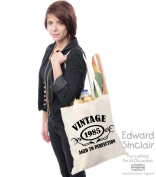 VINTAGE 1985 AGED TO PERFECTION 30th Birthday Present Tote Bag - With A Black Print - Edward Sinclair Shoulder Bag