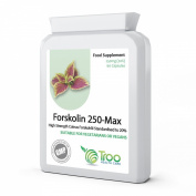 Forskolin 250-Max 250mg 60 Capsules - Pure Coleus Forskohlii Root Extract - UK Manufactured GMP Guaranteed Quality
