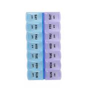 Meta-U Twice a Day Weekly Plastic Pills Dispenser Box