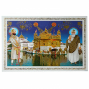 Picture Guru Nanak & Guru Gobind Singh at Golden Temple Harmandir Sahib 48x33cm Art Print India
