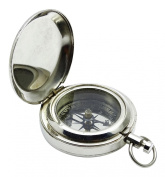 New Pocket Magnetic Nautical Sundial 4.6cm Brass Maritime Pocket Compass