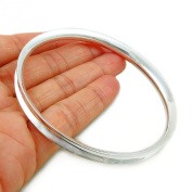 Curved Solid 925 Sterling Silver Bangle 20cm