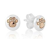 Gemma J Paw Print Earrings