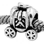 Cinderella Fairytale Pumpkin Carriage Princess Charm Fits Pandora Bracelets Charms Girls Jewellery