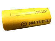 Clinical Waste Yellow Bag 360 x 711 x 990mm - Roll of 25
