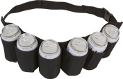 SHENNOSI® Beer & Soda Can Holster Belt Holds 6 Beverages