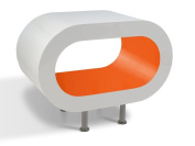 White and Orange Hoop Coffee Table / TV Stand in Various Sizes